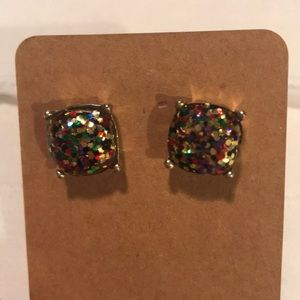 Jewelry - Multi Colored Glitter Earrings